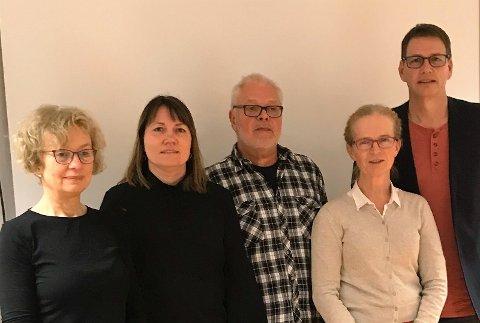 Representanter fra det nye styret i Kristiansund Lokallag av NFU