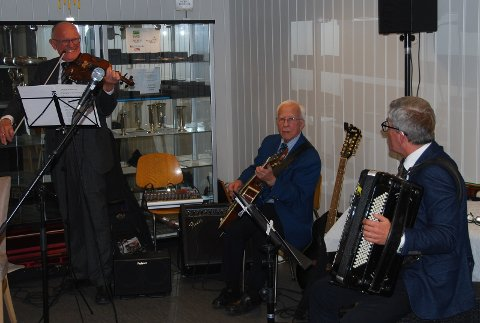 Løvetrioen: Fv: Rolf Karlsen, Finn Olsen og Jan Oddvar Haugerød.