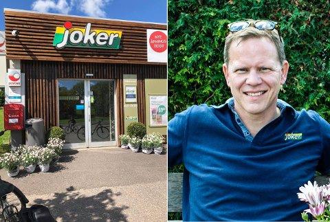 TOK AFFÆRE: Kjøpmann Thomas Nilsen reddet hund utenfor butikken.