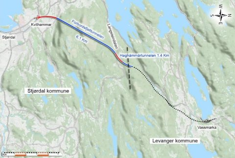 UTSLIPP I TO ELVER: Nye Veier AS søker om midlertid utslippstillatelse av prosessvann til Vollselva og Langsteinelva i forbindelse med driving av nye tunneler for ny E6 mellom Kvithammar og Vuddudalen.