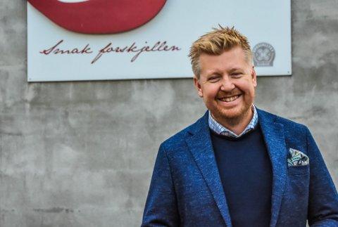 KNALLÅR: Både omsetning og resultat pekte rett oppover for Stange Gårdsprodukter AS i 2020, kan adm. direktør Peter A.S. Aronsen konstatere. Foto: Asbjørn Olav Lien