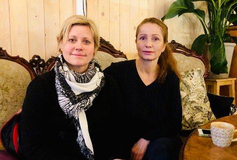 Silja Solem (t.v.) er lærer ved Bjørnemyr skole og Evelyn Farbrot på Nesoddtangen, men nå i permisjon fordi hun er leder for Utdanningsforbundet Nesodden.