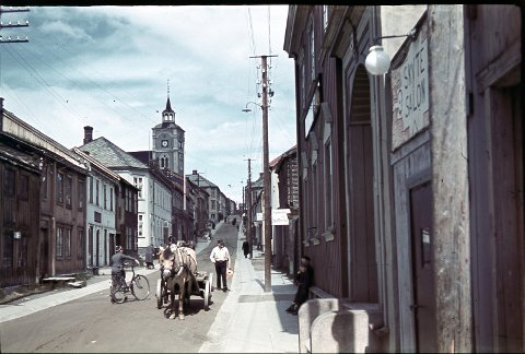 TREBYEN: I 1980 lurte Riksantikvaren nesten egenhendig Røros bergstad inn på UNSCOs liste over verdens natur- og kulturarv. I 2010 ble Cirkumferensen inkludert etter nesten 20 års demokratisk prosess. Bildet er trolig fra 1944.