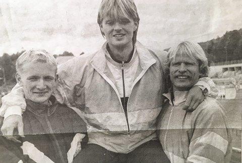Til topps: Første seier over Bjørn Rolland på 400 meter.