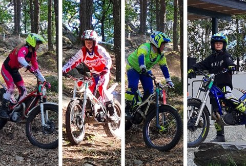 KJØRTE NORGESCUP: Kristiane Blesvik (f.v.), Andreas Wroldsen, Vetle Sletta Sørensen og Magnus Ulltveit.