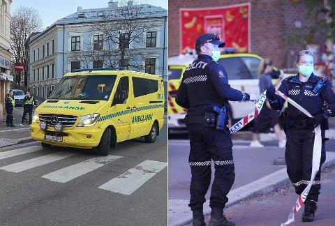 KONFLIKT: En 21 år gammel mann ble utsatt for grov vold i en butikk i Tøyengata 15. april i år (til venstre). Politiet mener at saken har røtter i en konflikt mellom ulike miljøer på Tøyen og Grønland, der en ung mann ble knivstukket tilbake i april i fjor (til høyre).