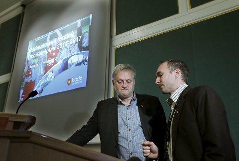 Administrasjonen: Rådmann Rolf Kåre Jensen og økonomidirektør Stephan Skjelvan brukte flere år på forberedelser til åpningen av Stormen.