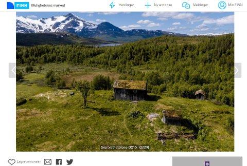 Dyrest: Eiendommen på Korgenfjellet har en prislapp på 10 millioner kroner.