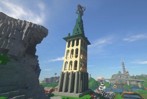 Minecraft tar mål av seg til å lage det største 17. maitoget i historien med 100.000 deltakere. Spillet besøker blant annet klokketårnet i Bodø.