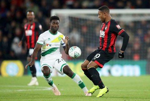 Norwich City og Alexander Tettey kan få problemer mot Brentford på bortebane.  (Adam Davy/PA via AP)