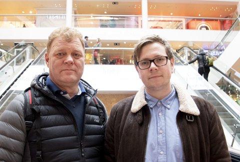 Jan Sivertsen og Henrik Drivenes i Handel og Kontor forteller om arbeidsforhold i butikker i Bergen som de mener er langt over smertegrensen.