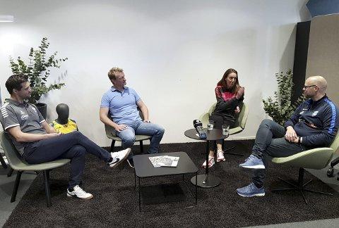 Vidar Gjesdal, Erik Hanøy, Vibeke Johannesen og Pål H. Thorsen diskuterte manglende Nymark-fremdrift.