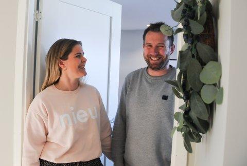 Drømmehjemmet: Hege og Jan Erik Skjæveland inviterer inn i huset på Grødem, som de har bygget slik de ønsker å ha det.