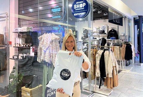 LANSERING: Anne Trine Høibakk åpner Norges første heldigitaliserte kjøpesenter.