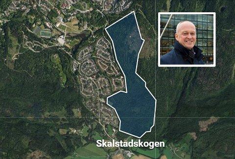 UVISS: Fremtiden til boligprosjektet på Skalstadskogen på Konnerud er uviss etter at Buskerud bypakke 2 falt.