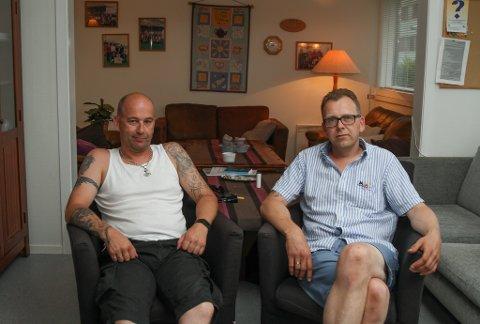 På besøk hos rusettervernsgruppa i Florø. Ronny Grønsberg og Eystein Udberg