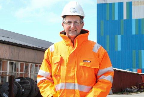 LANDA STORKONTRAKT: Trygve Solaas, verftsdirektør på Westcon Yards har grunn til å smile for tida. Dei no ein kontrakt verdt 230 millionar kroner med Fjord1.