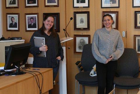 LIV OG LYST: SIri Grotle Solheim og Madelen Varden orienterte formannskapet om arbeidet med bygdeutvikling.