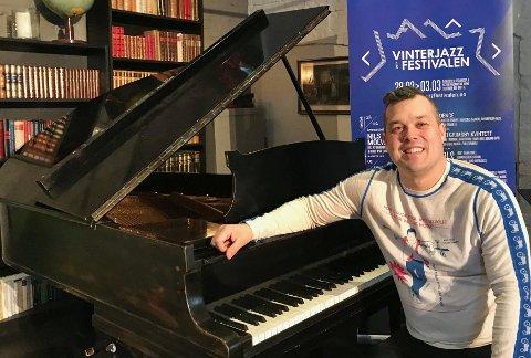 TEGLHUSET: Festivalarrangør Ole Henrik Mohn Pettersen gleder seg til femte utgave av Vinterjazzfestivalen.