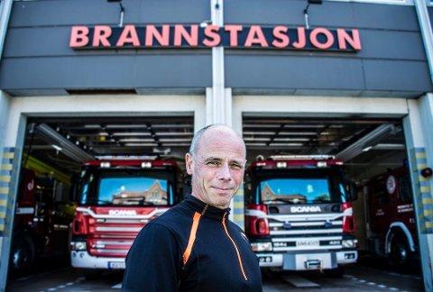 Mange oppdrag: Brannvesenet rykket ut 1.194 ganger i fjor. 61 ganger var det brann i en bygning. Brannsjef Stein Didrik Laache sier 2018 var travlere enn normalt for brannvesenet.