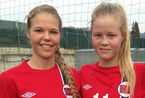 Representerer Norge: Vilde Fjelldal og Katrine Winnem Jørgensen.