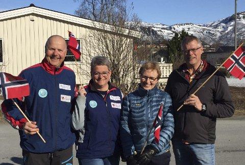Fv: Tore Brønstad, Hege Brønstad, Lisbeth Bones, Anders Kruhaug, Unni Pedersen ikke til stede da bildet ble tatt
