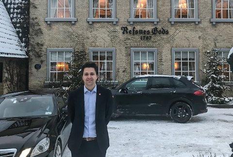 DELTOK: Bjørn-Kristian Svendsrud (Frp) deltok da regjeringsplattformen ble vedtatt i helgen.