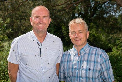 Ledelsen: Adm.dir. Sven Inge Sunde (til venstre) og nyvalgt styreleder Knut Storberget i Anno - Museene i Hedmark.