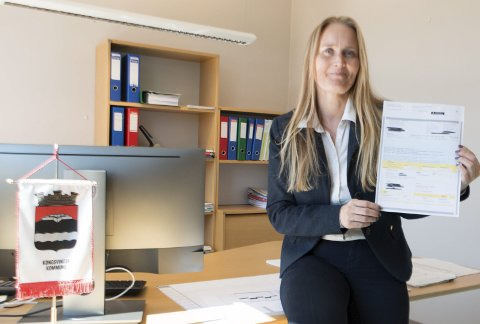 FORNØYD: Økonomisjef og fungerende HR-sjef Malin Westby Skoglund er veldig fornøyd med at så mange søker på jobber i Kongsvinger kommune. FOTO: PER HÅKON PETTERSEN
