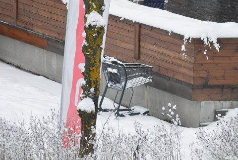 SETTES IGJEN: Juletravle polkunder har ikke tid til å sette tilbake vogner etter bruk.