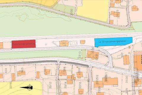 ENKLERE Å PARKERE: Lunner stasjon har økt sin parkeringskapasitet fra 30 til rundt 80 plasser.