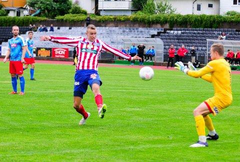 Martin Hoel Andersen kan forsvinne fra Kvik Halden. Han er ønsket av blant andre 1. divisjonsklubben Jerv.