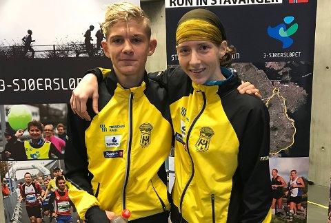 NORGESMESTER: Tessa Frenay vant NM-gull på halvmaraton U23. Lillebror Milan løp også bra i Stavanger.
