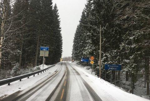 HOLTET: Riksgrensen mellom Norge og Sverige i Søndre Enningdalen.