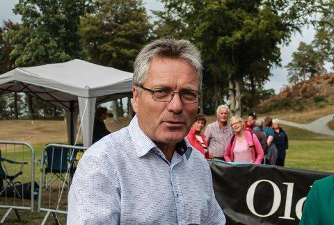IKKE KOMMUNENS EIENDOM: Ordfører Thor Edquist understreker at Fredriksten festning ikke tilhører kommunen.