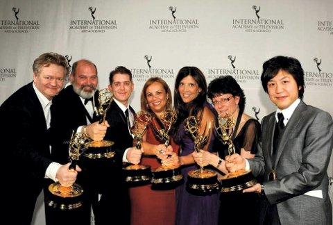 FØRSTE EMMY: Arild Halvorsen og Fabelaktiv mottok sin første Emmy i 2014.