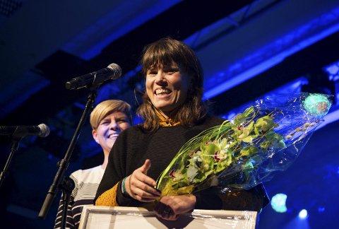 Overraska: Benedicte Maurseth vart vinnar av årets Vossa-Jazzpris. Foto: Runhild HeggeM/Vossa Jazz