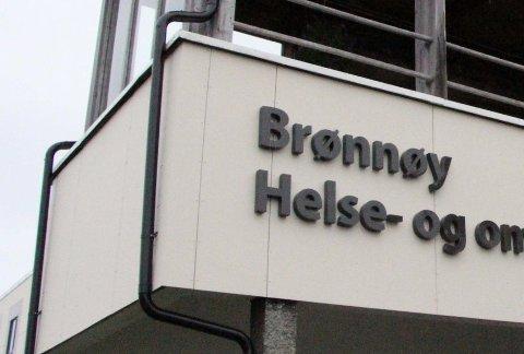 Barket sammen: Slagene falt utenfor Brønnøy legesenter i januar i år.