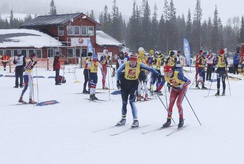 NNM på ski Sjåmoen stafetter søndag.  Halsøy veksler  Jesper Abelsen Andreasen og Ole Jakob Forsmo