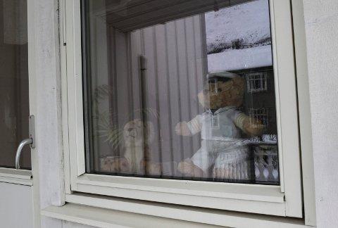 BAMSEJAKT: Folk setter bamser ut i vinduene og barna går rundt i gatene og teller bamser. Hvor mange finner du?