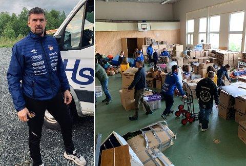 KOORDINATOR: Pål Harald Hansen er koordinator for dugnaden Bjørnevatn IL gjennomførte mandag ettermiddag.