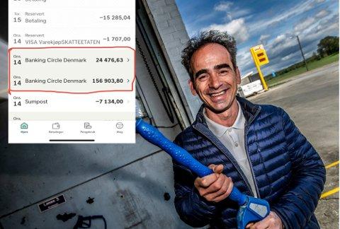 – Jeg har spøkt med at nå bestiller jeg flybilletter til Dubai, men nei, jeg tror ikke jeg får beholde pengene. De er jo ikke mine, sier Bashkim Qela (46) etter at han onsdag fikk over 180.000 kroner inn på konto uten at han aner hvorfor.