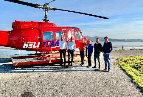 FORENER KREFTER: Fra venstre: Kent Jensen (Loe Equity), Morten Sandli (Sandli Invest), Bjørn Steien (Heli-Team), Bente Slåtto Steien (Heli-Team), Jonas Nymark (Heli-Team), Victor Cook (Heli-Team)