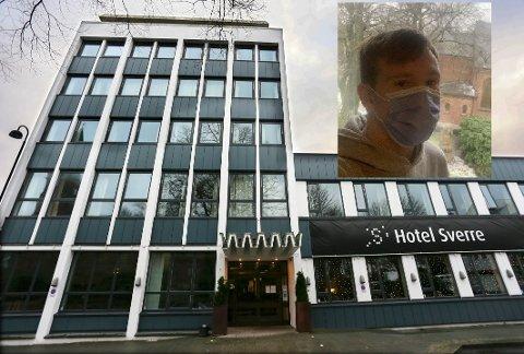Eirik Lea skal være på karantenehotell i Sandnes sentrum de neste ti dagene.
