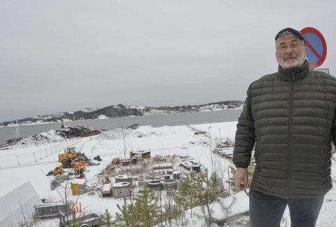 Vil hit: Havnevesenet vil ta over Stilnestangen Nord, både for å sikre plass og inntekter, fastslår havnestyreleder Øyvind Olsen.
