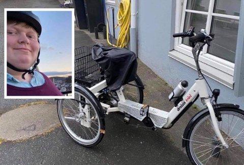OPPGITT: Andrea Byvold Næss ser helst at sykkelen hennes kommer til rette igjen snarest. Hun bruker den hver dag.