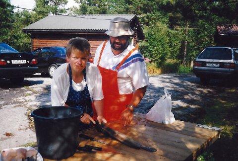 DEN GONG DÅ: Her frå eit av Eva og Lothar Lange sine opphald i Koløys Hyttefelt. Bildet vart tatt i september 1995. (Privat foto).