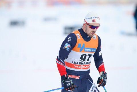 Sondre TUrvoll Fossli i mål etter sitt løp