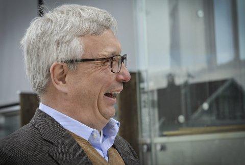 Tro på Kongsberg: Karl Eirik Schjøtt-Pedersen, direktør for Norsk olje og gass, er imponert over kongsbergmiljøet.  Foto: Jenny Ulstein