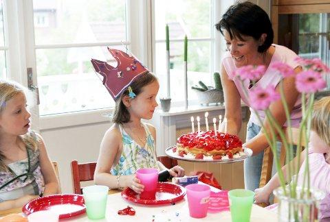 BURSDAG: For mange barn er bursdagsselskaper noe av det morsomste som skjer.